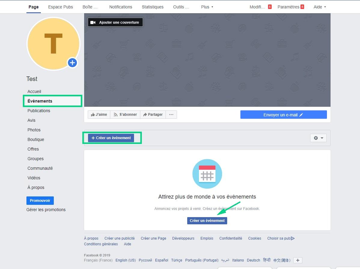 Ajouter des informations sur les produits page Facebook image 1