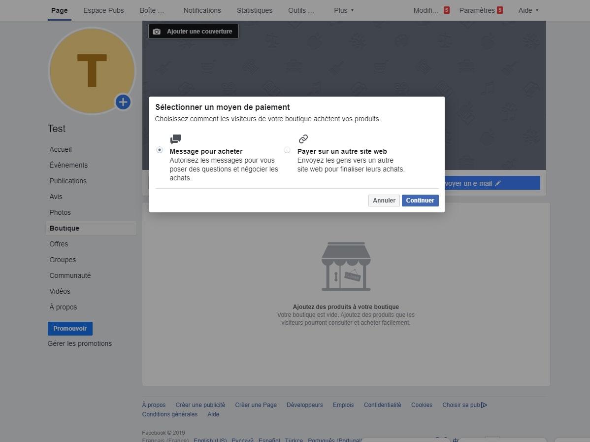 ajouter produits et services sur page Facebook image 2