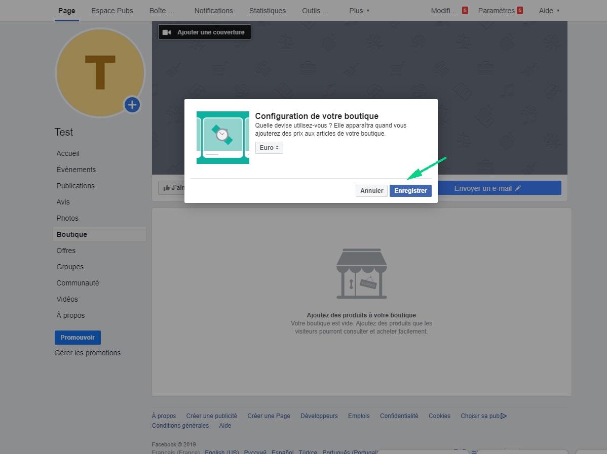 ajouter produits et services sur page Facebook image 3