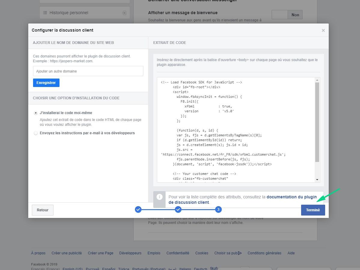 configurer la discussion client page Facebook image 2