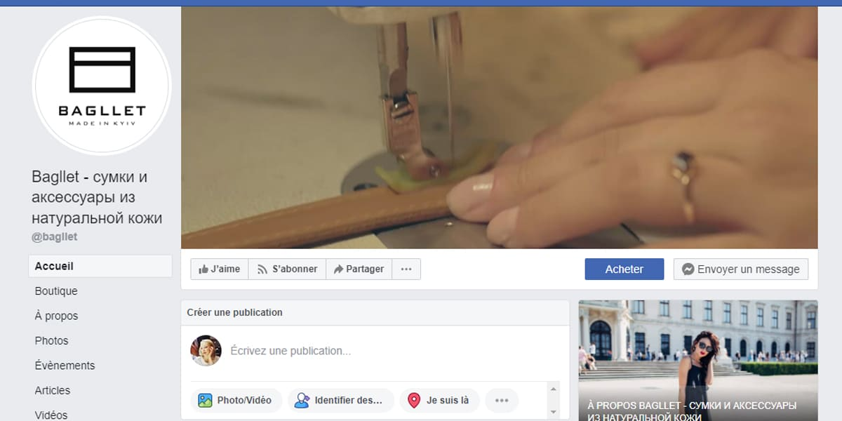 La couverture vidéo Facebook Page Pro de Bagliet
