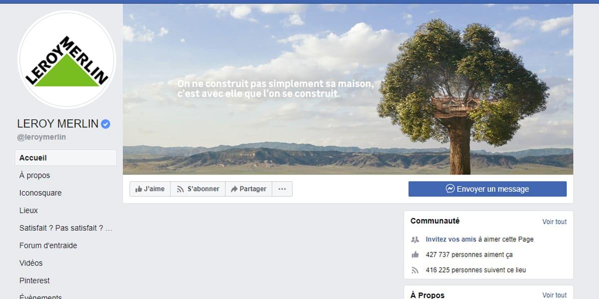 la couverture de Leroy Merlin Facebook Pro