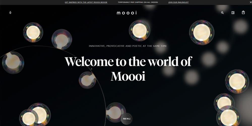 Exemple de site avec un web design simple