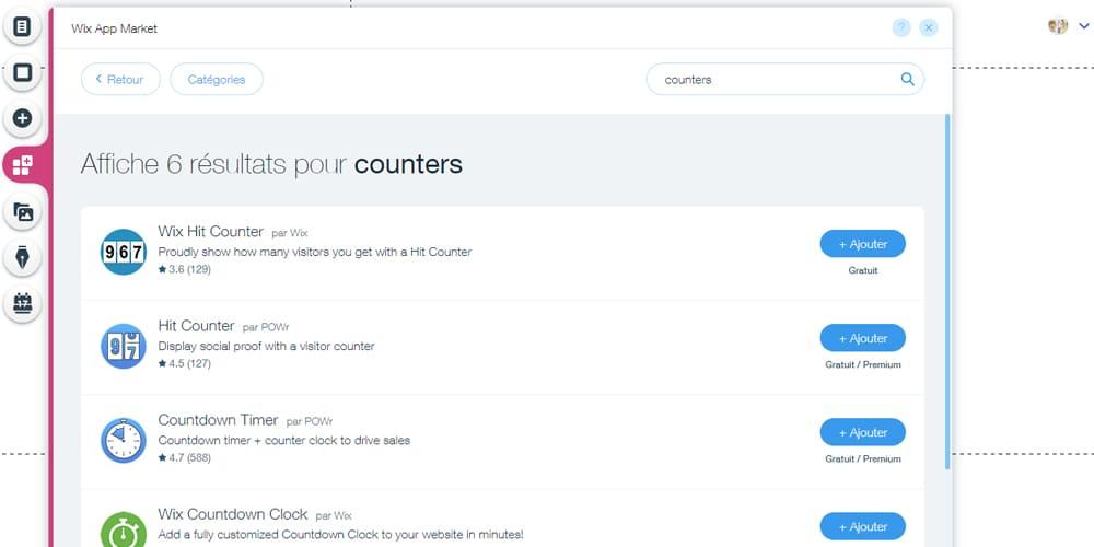 Compteurs pour une Landing pages