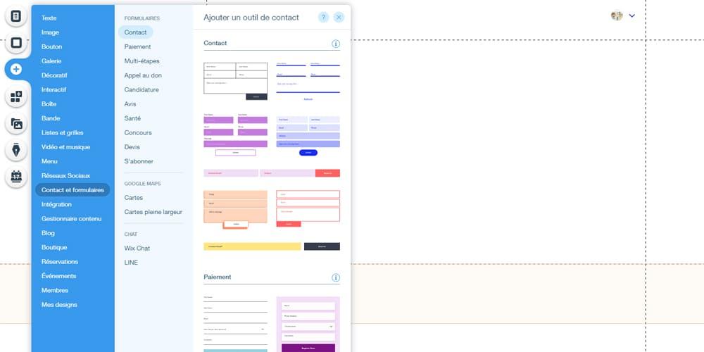 Contact et formulaires sur Landing Page