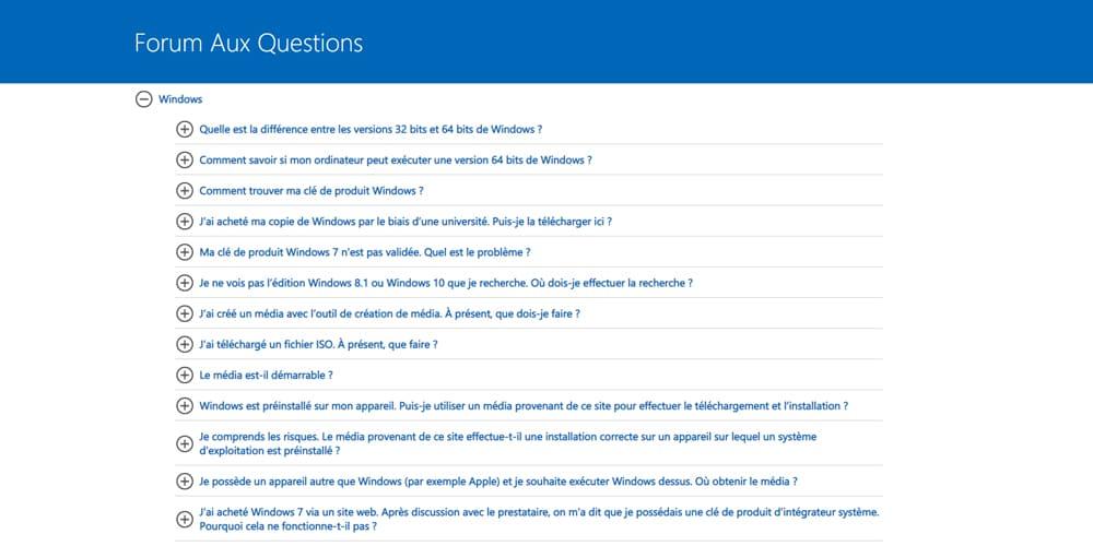 Forum aux questions sur Landing Page