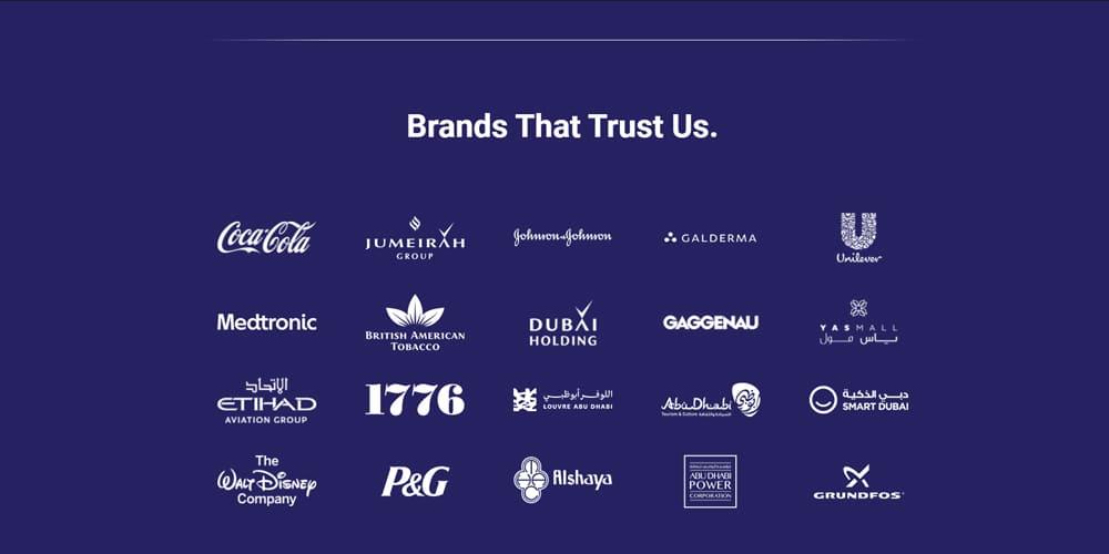 Un exemple de placement des logos de partenaires sur Landing Page