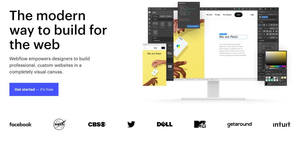 Design de landing page avec une capture d'ecran
