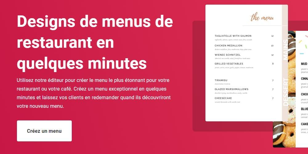 Exemple de webdesign du premier écran de la landing page