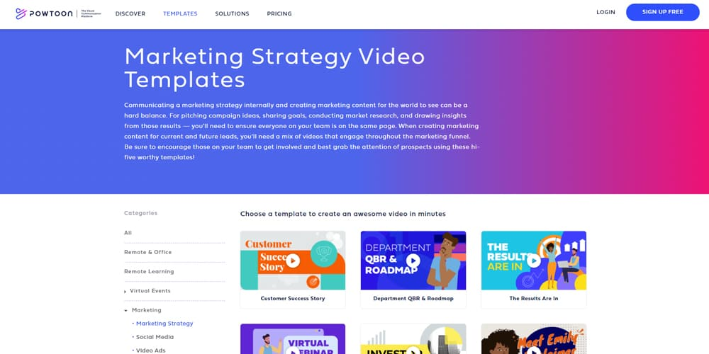 Modeles de videos de strategie marketing
