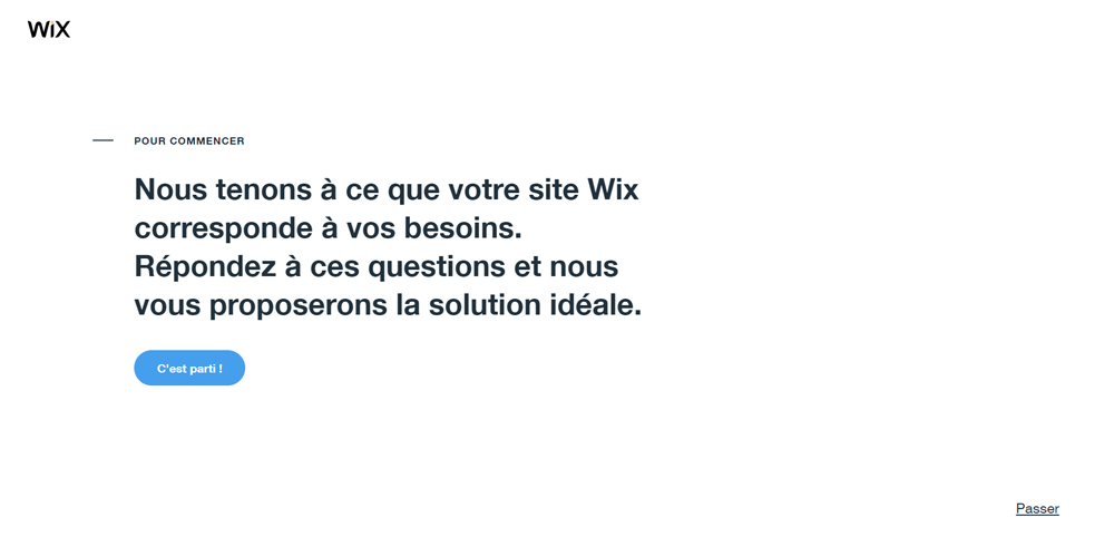 Questionnaire avant la creation du site Wix