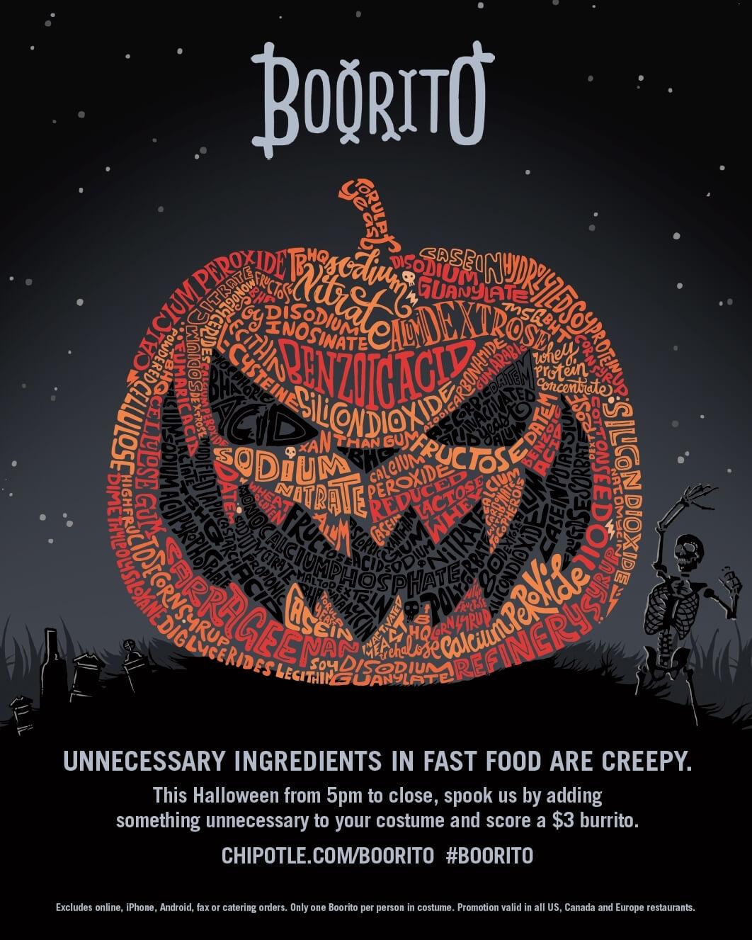 Chipotle Boorito Halloween